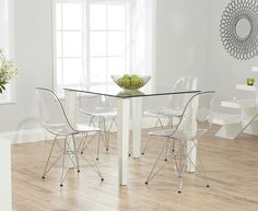 Hereford White High Gloss Dining Set   With 4 Red Malibu Chairs | Hereford  White | Pinterest | Hereford