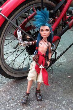 Ty Tanium, custom Monster High Deuce Gorgon custom ooak doll by Dollightful