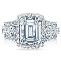 Shop online TACORI HT2613EC10X8 Halo Platinum Diamond Engagement Ring at Arthur's Jewelers. Free Shipping