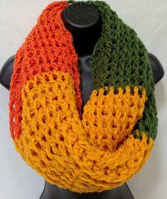 Autumn Infinity/ Round/ Circle Crochet Scarf