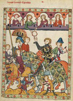 Manesse Codex - (1300 - 1340) Herzog Heinrich von Breslau