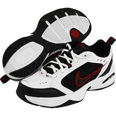 Nike Air Monarch IV 4E US Mens 6 Wide WhiteBlackVarsityRed >>> Want to know more, click on the image. (This is an affiliate link) #MensExerciseFootwear