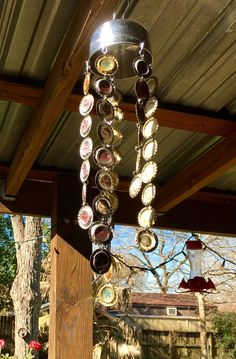 Wind chime windchime fathers day gift gift for him easter wind chime windchime fathers day gift gift for him easter gift wind chimes windchimes bottle caps husband gift beer gift negle Gallery