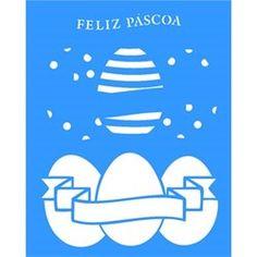 Stencil Ovos de Páscoa 20x25 - OPA