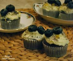 Blueberry and Earl Grey cupcakes!!!!!!!!