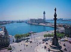 En el puerto de Barcelona