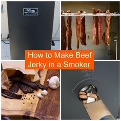 How to Make Beef Jerky in a Smoker Smoker Cooking meat smoker jerky Smoker Beef Jerky, Making Beef Jerky, Beef Jerkey, Best Beef Jerky, Venison Jerky, Homemade Beef Jerky, Homemade Smoker, Smoker Jerky Recipes, Roast Beef