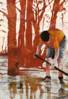 23 Original Artworks curated by Rebecca Wilson, Inspired by Peter Doig. Original Art Collection created on Peter Doig, Figure Painting, Painting & Drawing, Cool Paintings, Original Paintings, Tableaux D'inspiration, Figurative Kunst, Alberto Giacometti, Surreal Art