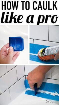These instructions for how to caulk a bathtub are super easy to follow and will give you a perfectly straight caulk line.