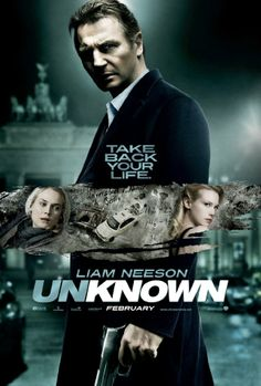 Unknown is a 2011 British-German-French psychological thriller action film directed by Jaume Collet-Serra, starring Liam Neeson, Diane Kruger, January Jones, Ai 2011 Movies, Hd Movies, Movies To Watch, Movies Online, Movies Free, Film Watch, Movies 2019, Aidan Quinn, Beau Film