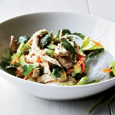 Vietnamese Chicken-Noodle Salad | Delicious Vietnamese Recipes http://www.foodandwine.com/slideshows/vietnamese #foodandwine #favoritesfriday