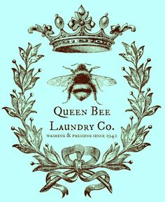 queen bee (no scroll work) Queen Bee Tattoo, Bee Images, Bee Art, Bee Happy, Save The Bees, Bees Knees, Queen Bees, Vintage Prints, Collages