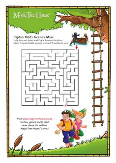 Image detail for -Magic Tree House Maze - Scholastic Book Club