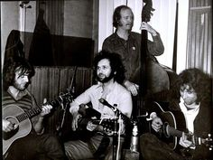 With the famous folk singers and musicians, Ralph Mc Tell, Danny Thompson and Bert Jansch, in my recording studio CBE in Paris ©G. Chatelain