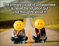 eckhart tolle about unhappiness