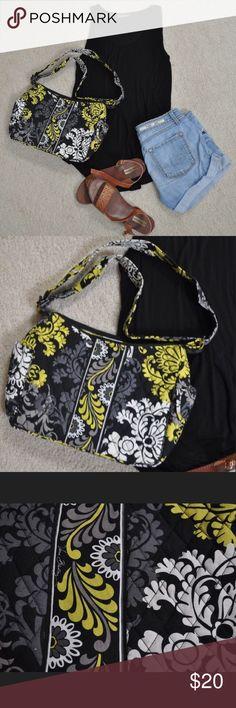 Vera Bradley Purse Beautiful Green discontinued print. Never used but doesn't have tags. Perfect fall piece. Vera Bradley Bags Shoulder Bags