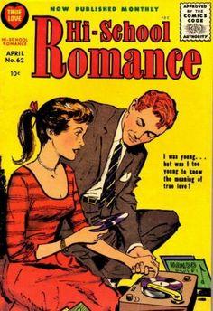 Hi-School Romance comic record cover