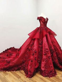 2018 Chic Ball Gown V Neck Beads Appliques Red Off-the-Shoulder Long Prom Dresse. - 2018 Chic Ball Gown V Neck Beads Appliques Red Off-the-Shoulder Long Prom Dresses uk - Long Prom Dresses Uk, Burgundy Homecoming Dresses, Princess Prom Dresses, Backless Prom Dresses, Wedding Dresses, Evening Dresses, Wedding Bride, Princess Ball Gowns, Dressy Dresses
