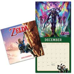 2018 The Legend of Zelda Wall Calendar | ThinkGeek