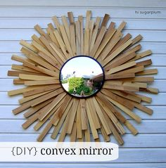 DIY Convex Mirror | 110+ Incredibly Beautiful Homemade DIY Christmas Gifts & Ideas | DIY Wall Art