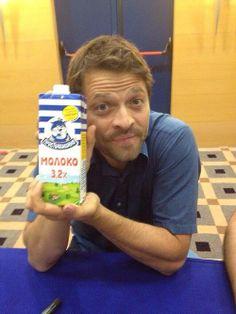 why oh earth is Misha holding простоквашино??
