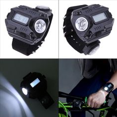 Wrist Torch Light - Flash light - Watch - Compass - USB Rechargeable CREE LED Torch - 120 LM - Tactical - Survival - Sports