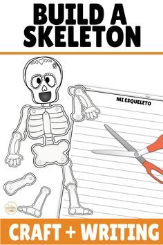 Check out this writing activity and build a skeleton craft for Day of the Dead! TEN different templates to choose from with a variety of sugar skulls or a plain skull and skeleton to provide choice to your students! This is perfect for Halloween or Día de los Muertos in your elementary, middle, or high school classroom! Seasonal and fun! Great for summarizing what they learned about Dia de Muertos or practicing body parts and descriptions!