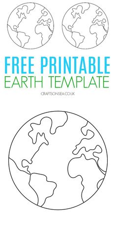 Free Earth template - perfect for space crafts and Earth Day crafts Earth Day Projects, Projects For Kids, Crafts For Kids, Art Projects, Earth Craft, Earth Day Crafts, Free Preschool, Preschool Crafts, Earth Day Activities