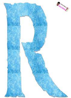 Frozen Free Alphabet. Alfabeto Gratis Inspirado en Frozen.