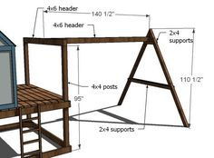 Ana White | Build a How to Build a Swing Set for the Playhouse! | Free and Easy DIY Project and Furniture Plans