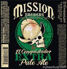 Mission Brewery - El Conquistador Extra Pale Ale 4.8% ABV