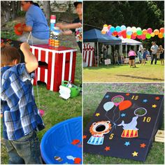 End of the School Year Carnival party--What a fun way to celebrate the end of school!! She has lots of fun ideas!!