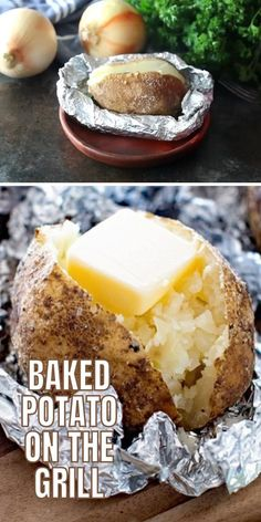 Best Baked Potato, Best Potato Recipes, Cheesy Recipes, Mexican Food Recipes, Grilling Sides, Barbeque Sides, Summer Grilling Recipes, Camping Recipes, Grilled Baked Potatoes