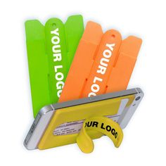 Smartphone silicone ID card holder wallet