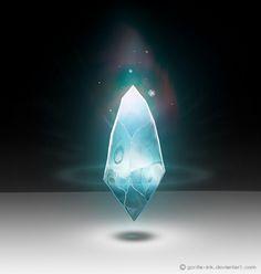 Magical Crystal by goRillA-iNK on DeviantArt Fantasy Kunst, Fantasy Art, Dungeons And Dragons, Gorilla Ink, Magia Elemental, Crystal Illustration, Crystal Drawing, Pen & Paper, Game Gem