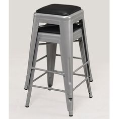 Tabouret Padded Metal Counter Stool (set of - Overstock™ Shopping - Great Deals on Bar Stools Home Bar Furniture, Furniture Deals, Metal Counter Stools, Bar Stools, Craft Beer Cellar, Paint Bar, Dining Room Bar, Kitchen Dining
