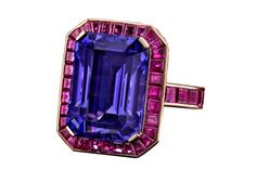 Fine Jewelry Trend: Case of the Blues Robert Procop ring [Courtesy Photo] Gemstone Jewelry, Jewelry Box, Jewelry Accessories, Fine Jewelry, Jewelry Design, Tanzanite Jewelry, Fashion Accessories, Ringa Linga, Or Antique