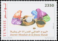 Subject  World Rural Women Day  Number  1962  Size  37 x 52  Issue Date  15/10/2014  Number issued  500 000  Serie  commemorative  Printing process  offset  Value  2350 millimes  Drawing  Oussama Bouaziz