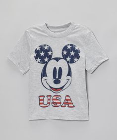 Take a look at this Gray 'USA' Mickey Tee - Infant, Toddler & Kids by Disney on #zulily today!8