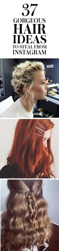 37 Gorgeous Hair Ideas to Steal From Instagram: Instagram is an awesome source…