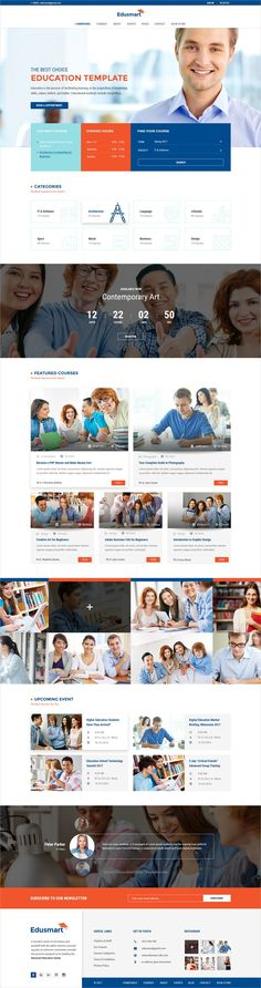 Edusmart is a wonderful #Photoshop template for #webdev awesome #education websites with 33 homepage layouts and 30 PSD pages download now➩  https://themeforest.net/item/edusmart-education-psd-template/19299074?ref=Datasata