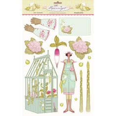 tilda paper cutouts | tilda cut out kitchen garden £ 3 79 comment 7 kitchengarden decoupage ...