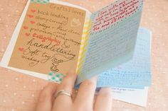 Letter Book, good idea when introducing yourself to a new penpal!