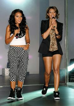 Angela and Vanessa Simmons casual fashions.