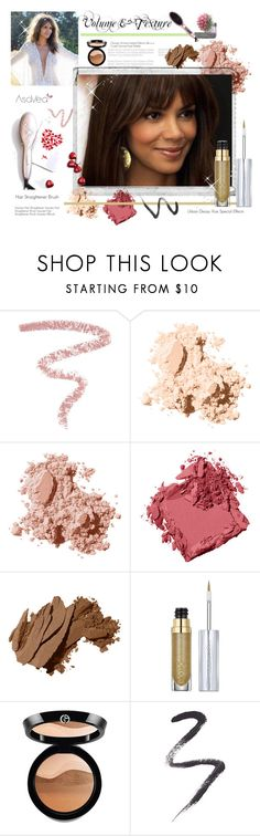 """""""Volume & Texture"""" by asavea ❤ liked on Polyvore featuring beauty, Bobbi Brown Cosmetics, Polaroid, Urban Decay, Giorgio Armani and Topshop"""