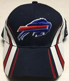 e3b5d10a380 Details about Team NFL Buffalo Bills Snap Back Hat Cap Blue Vintage New York