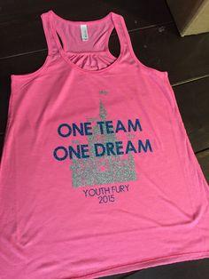 Cheer Team – Dance Team – Disney Tanks – One Dream – One team – Family Shirts – Disney Shirts Cheer Team Dance Team Disney Tanks One by KrazyHeartStudios Cheer Shirts, Dance Team Shirts, Gymnastics Shirts, Cheerleading Shirts, Softball, Disney Shirts For Family, Family Shirts, Cheer Coaches, Nca Cheer