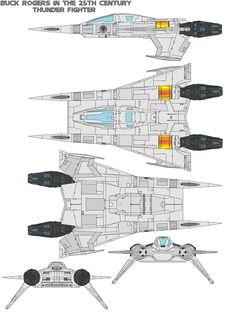 buck rogers  Thunder Fighter by bagera3005.deviantart.com on @deviantART