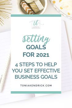 Do you want to set goals for 2021 that you'll actually reach? As we dive into the new year, follow these 4 steps to set effective, actionable, and achievable goals for your business this year. Business Goals, Business Entrepreneur, Business Planning, Business Tips, Types Of Goals, Goals Worksheet, Time Management Skills, Set Your Goals, How To Stop Procrastinating