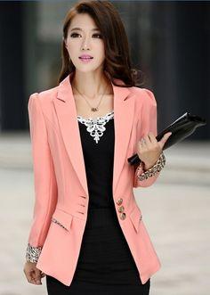 product image Blazer Jackets For Women, Blazers For Women, Suits For Women, Clothes For Women, Modele Hijab, New Fashion, Lounge Wear, Fall Outfits, Fashion Dresses